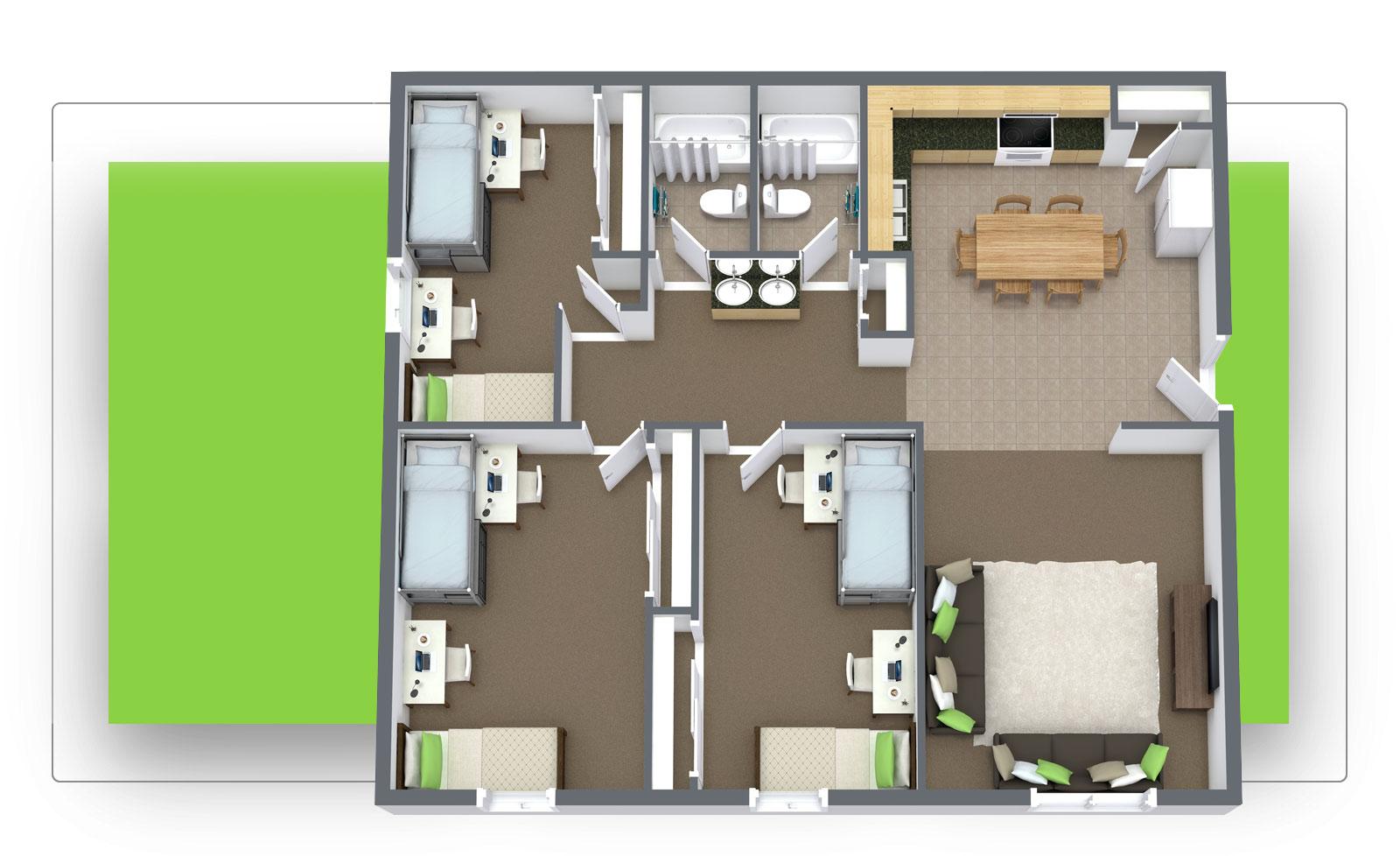 The Pines 3x2 Floor Plan