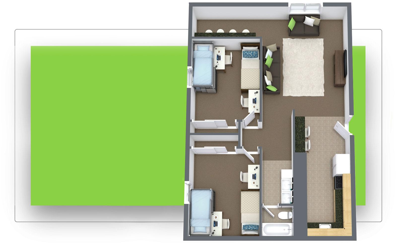 The Pines 2x1 Floor Plan